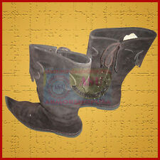 Medieval Leather Brown Reenactment Mens Shoe Sca Larp Role Play  Costume Boot