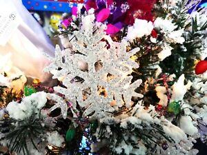 "48"" x 5"" White Snowflake 3D Garland CHRISTMAS Raz Imports Posable Wire G3502370"
