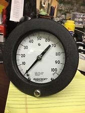 """Ashcroft duragauge 4 1/2"""" face 0-100psi Industrial Quality New in box USA"""