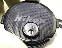 Nikon Lens Front Cap 52mm all black Genuine - snap on 28mm f2.8 50mm f1.8 Nikkor