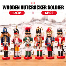 6x Vintage Nutcracker Soldier Traditional Hanging Christmas Tree DIY Decorations
