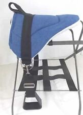 Miniature Horse / Sm Pony Bareback Pad Child Saddle With Stirrups Durable Denim