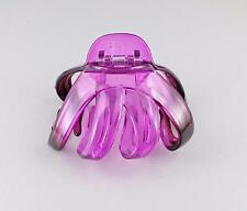 Purple octopus hair clip big spider barrette plastic claw jaw clamp clear ombre