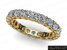 0.90Ct Round Diamond Shared Prong Gallery Eternity Wedding Ring 10k Gold G SI1