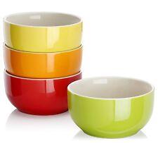 20-Ounce Porcelain Soup/Cereal Bowl Set - 4 Packs, Assorted Colors