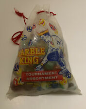 Vintage Extremely Rare Marble King Bag Plus 147 Vintage Marble King Marbles