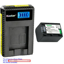 Kastar Battery LCD Charger for Sony NP-FV70 & Sony FDR-AX33 FDR-AX53 NEX-VG10
