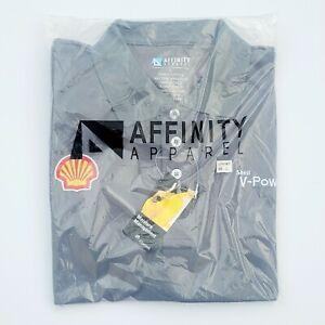 Shell Gas Station Employee Half Sleeve Shirt V-Power Men's L Gray New