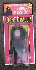 "1973 Azrak Hamway AHI Super Monsters 8"" Figure- Dracula Rare Original Card"
