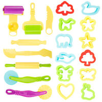 20 x Play Doh Kids Tools Set Modelling Craft Play Dough Mould Mold Toy Cutters