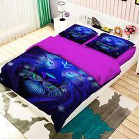 3D Leo Constellation Blue Lion KEP345 Bed Pillowcases Quilt Duvet Cover Kay