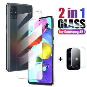 Para Samsung S21 A21S A52 Protector de pantalla Película Cámara Vidrio templado