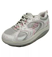 Skechers Shape-ups Womens Shoes Size 7 White & Pink 12350 Walking Running Toning