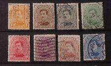1915 Belgium, King Albert I #108 thru #115  , set of 8 Used
