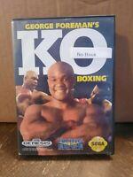 George Foreman's KO Boxing (Sega Genesis, 1992) No Manual