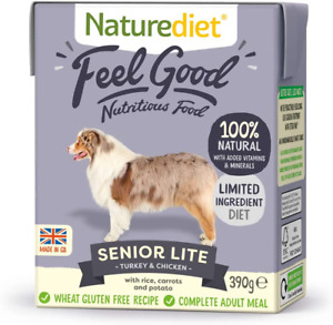 Naturediet Feel Good Senior - Lite Complete Wet Food 390g x 18