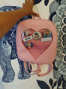 Ita Anime Style Japanese Bag With Kpop Bts/got7 Badges