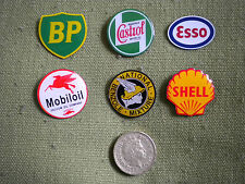 6 petrol/oil empresa Pin insignias, BP, Castrol, Esso, Mobil, nacionales de benzol & Shell