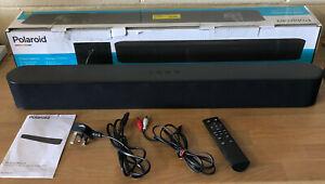 Polaroid 60W Wireless Bluetooth TV Soundbar 2.0 Speaker Optical AUX & Remote