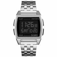 SKMEI Gli Sport Acciaio Cintura Orologio Uomo Guidato Digitale Impermeabile Z6Z9