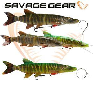 4D LINE THRU PIKE 25cm Savage Gear Lure Swim Bait Rubber Fishing Lures Baits UL