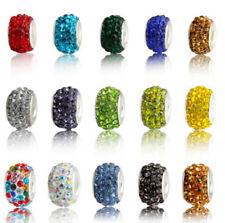 new 50pcs Czech crystal big hole Beads Fit DIY European Charm Bracelet wholesale