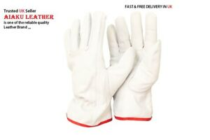 AIAKU  DRIVERS SAFETY GLOVES WORK LEATHER GOAT SKIN,,,,SIZE M,L