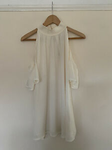 Michael Michael Kors Large Ladies Halter Neck Top Colour Bone (Ivory)
