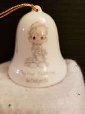 "Vintage Precious Moments ""May Your Christmas Be Delightful"" Collector Bell"