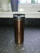 Copper colour Starbucks travel mug cup stainless steel