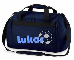 Sporttasche mit Namen Jungen mit Fußball   Reisetasche Tragetasche zum Umhängen