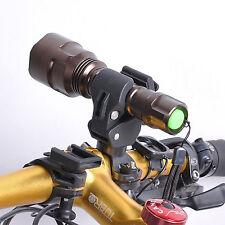 Bike Cycling Bicycle Mount Clamp Clip Flashlight LED Torch Lamp Light Bracket