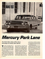 1964 MERCURY PARK LANE 390/300 HP ~ ORIGINAL 4-PG ROAD TEST / ARTICLE / AD
