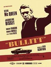 Affiche Pliée 40x60cm BULLITT 1969 Steve McQueen, Jacqueline Bisset, R2006 NEUVE