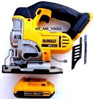 New DeWalt DCS331 20V Cordless Variable Jig Saw, 1) DCB203 Battery 20 Volt Blade