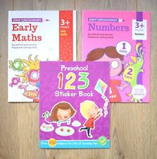 Pre School Toddler Educational Gift Books Bundle Maths Numbers Children 1 2 3 4
