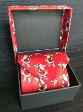 Christmas Necktie Santa Silk Nordstrom Holiday Red Museum Artifacts Boxed New