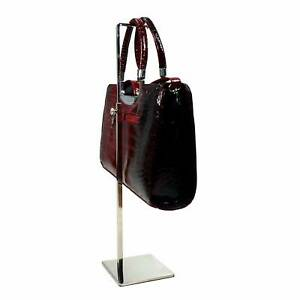 Handbag Clutch & Purse Hanger Display Stand Chrome Retail Shop Fashion (G500)