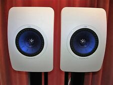 kef ls50 white. kef ls50 - high gloss piano white hifi speakers. excellent/mint condition. kef ls50