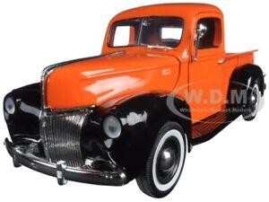 1940 FORD PICKUP TRUCK ORANGE 1/18 DIECAST MODEL CAR BY MOTORMAX 73170