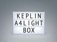 A4 LIGHT UP LETTER BOX CINEMATIC LED 90 BLACK LETTER,SYMBOLS AND USB