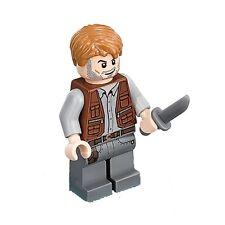 LEGO JURASSIC WORLD MINIFIGURE OWEN GRADY CHRIS PRATT WITH KNIFE 71205 75917