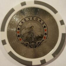 Las Vegas Laser Eagles roll of 25 poker chips - Gray 1