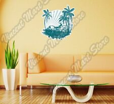 Surf Surfing Tropical Paradise Island Wall Sticker Room Interior Decor 22""