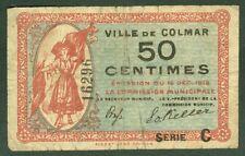 NECESSITE 50 CENTIMES VILLE DE COLMAR ETAT: TB+  Lot 973
