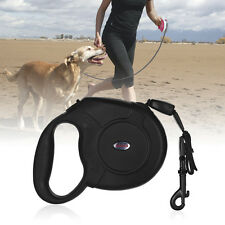 UP TO 50KG BIG DOG 8M BLACK STRONG RETRACTABLE DOG PET LEAD LEASH LOCK SUPPORT