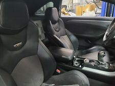 2011 2015 Cadillac Cts V Coupe Black Leather With Suede Recaro Seat Set Used Oem