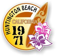 Retro tavola da surf Surf Huntington Beach California 1971 Auto Camper Van Adesivo