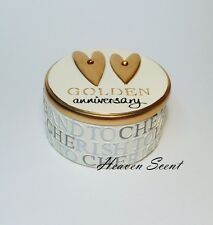 50th Golden Gold Wedding Anniversary Trinket Box Gift Present Ideas for him, her
