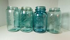 Lot of 7~ Vintage Ball Quart Mason Blue Canning Jars~Miscellaneous